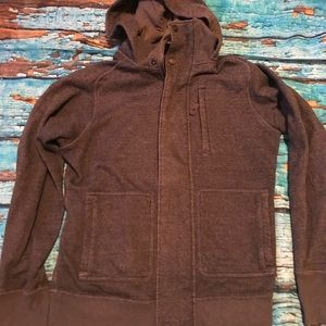 Lululemon Gray zip up hoodie with pockets. Large